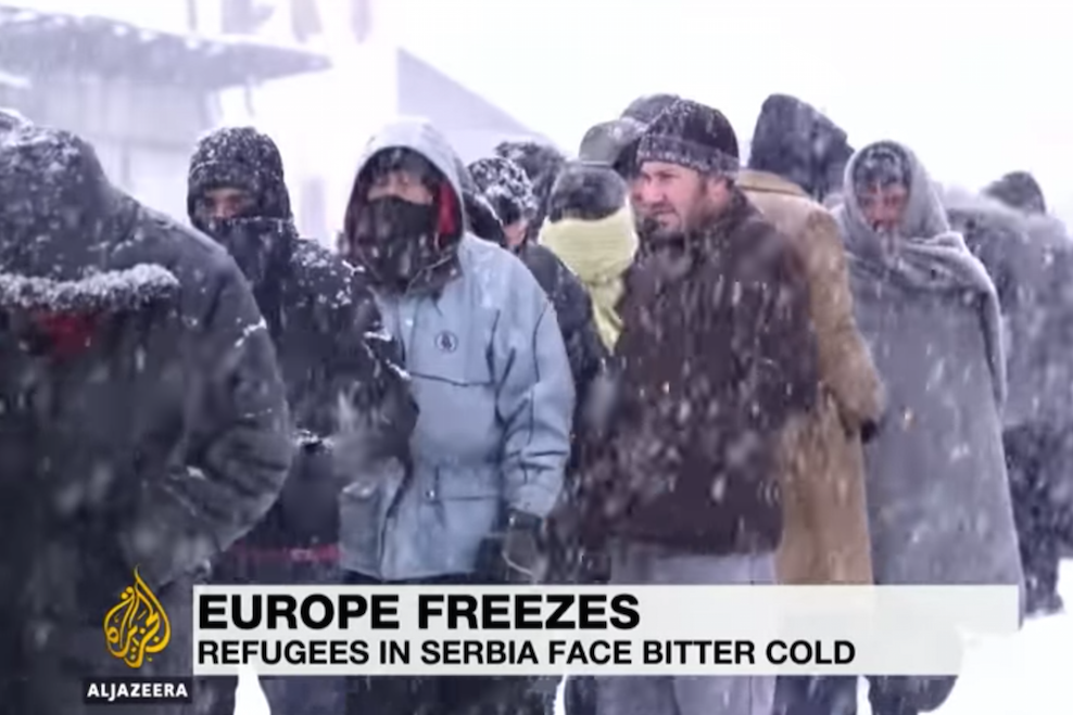 Migrants suffer in Europe's cold snap