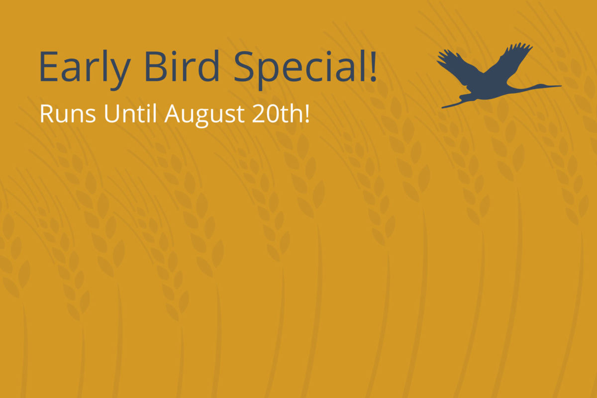 Early Bird Registration Extended Until August 20th!