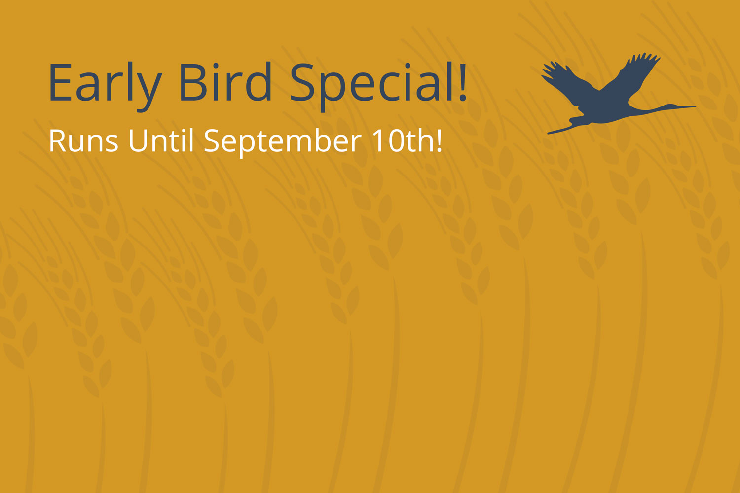 Early Bird Registration Extended Until September 10th!